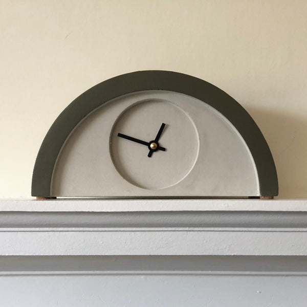 Custom Khaki Painted New Deco Clock
