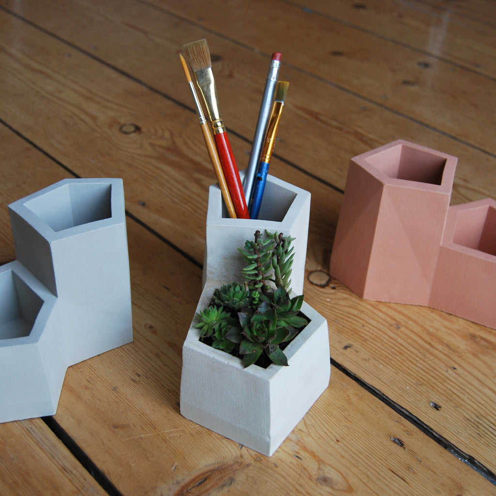 Portland Stone Desk Tidy Pen Pot Planter