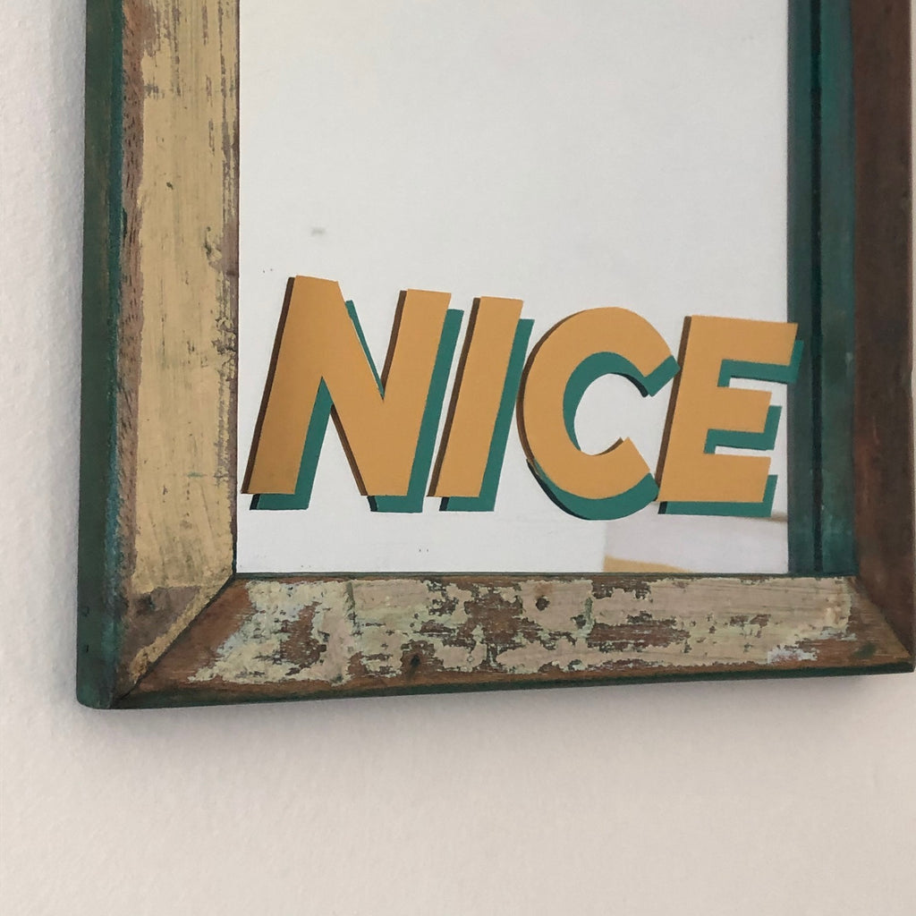 NICE! - Sign written mirror