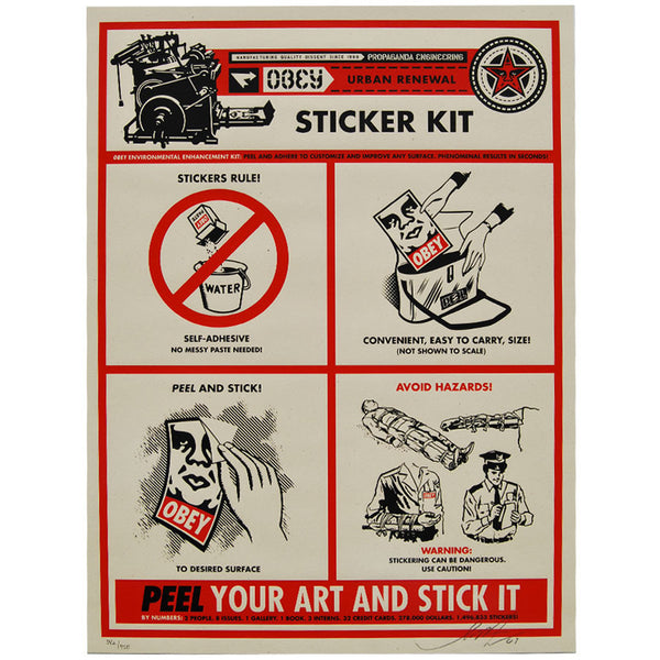 Sticker Kit signed limited edition print by Shepard Fairey
