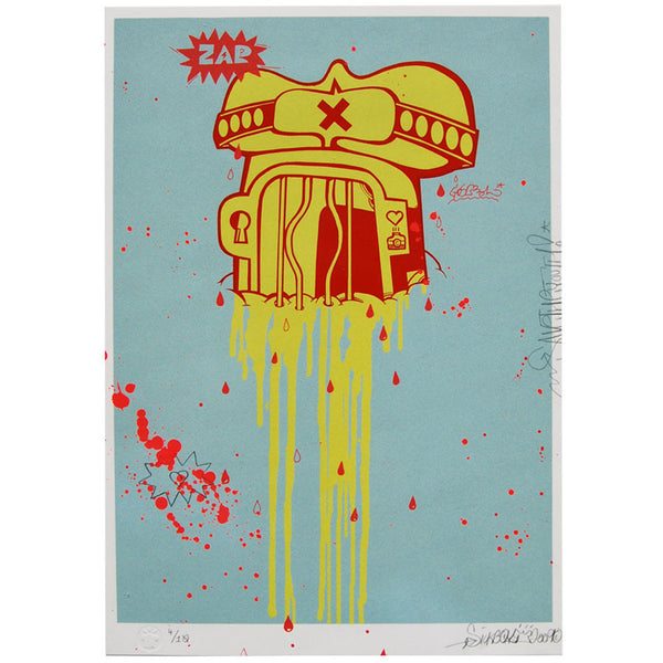 Buff Temple signed print by Sickboy