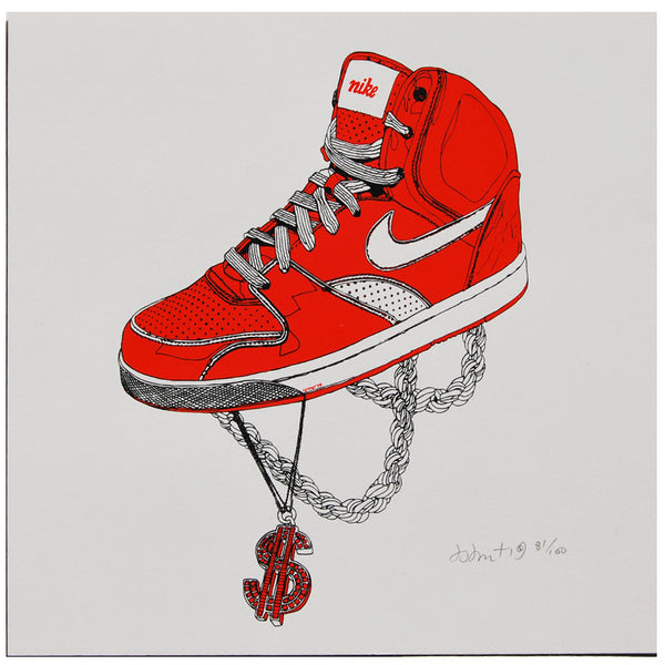Nike Kicks signed limited edition print by Tyler Stout