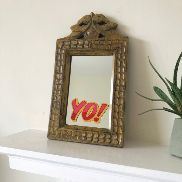 Yo! - Sign written mirror