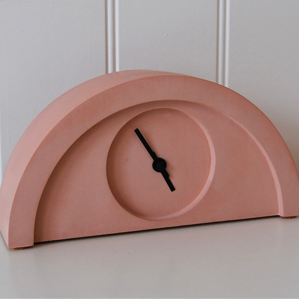 New Deco Clock in Terracotta