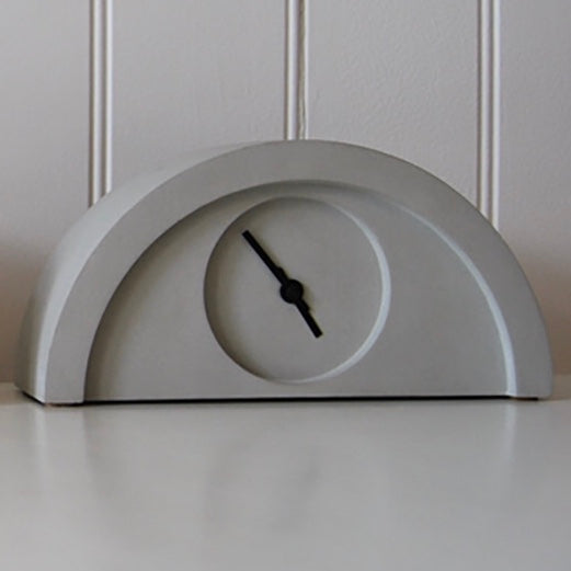 New Deco Clock in Concrete Grey