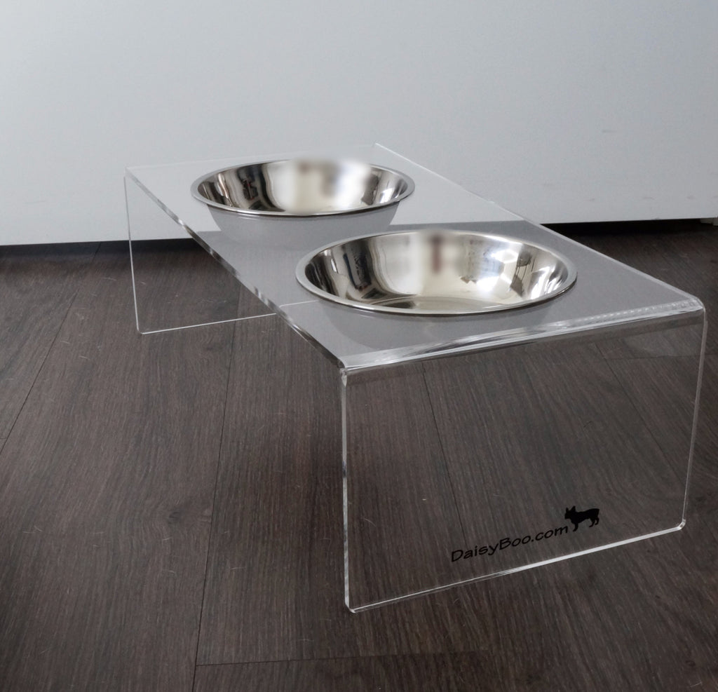Raised Pet Feeder / Elevated Dog Bowls - Medium - DaisyBooandCo.com