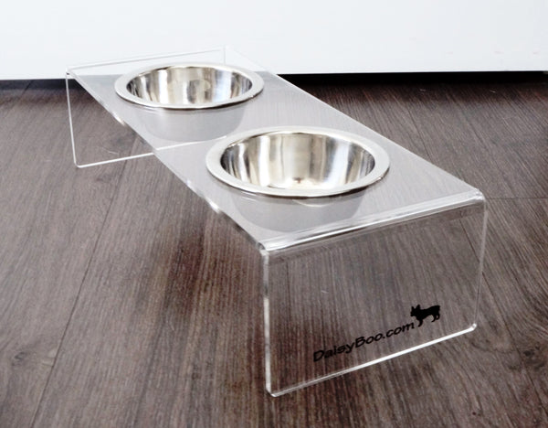 Raised Pet Feeder / Elevated Dog Bowls - Small - DaisyBooandCo.com