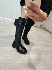 Pocket knee boots