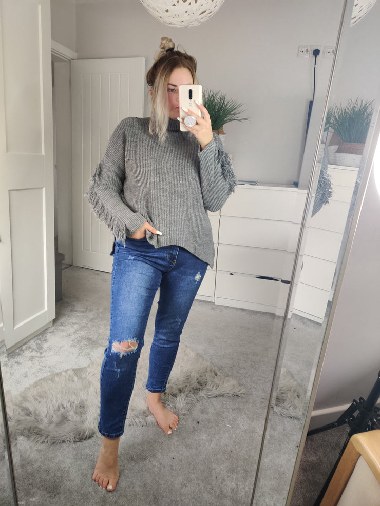 Tassel Arm Jumper