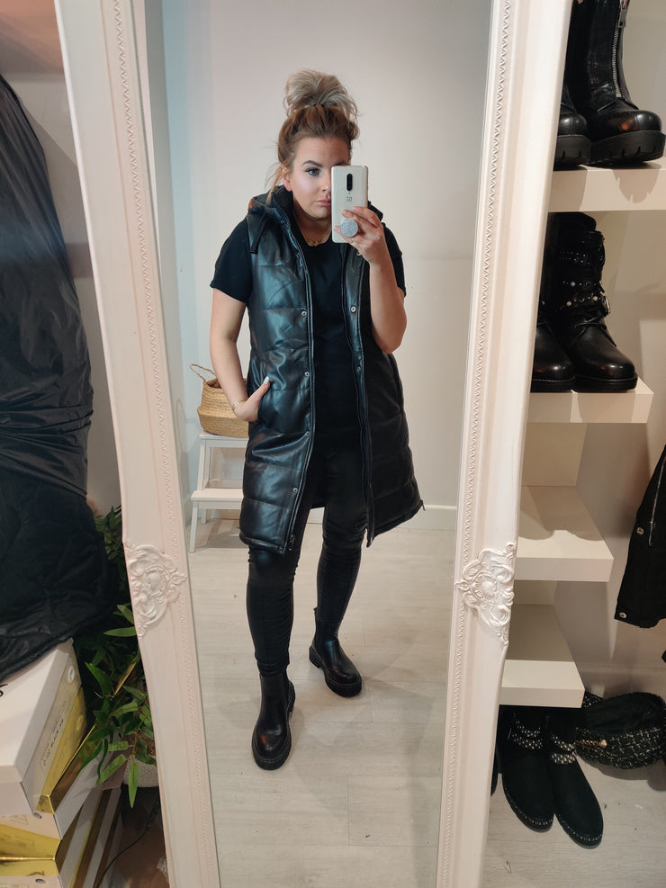 Leatherlook Gillet