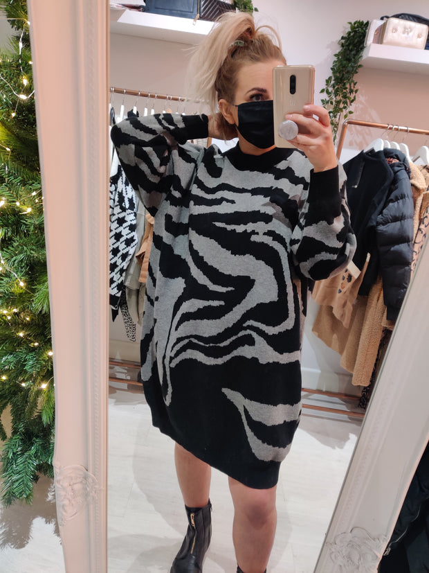 Tiger Stripe Jumper Dress