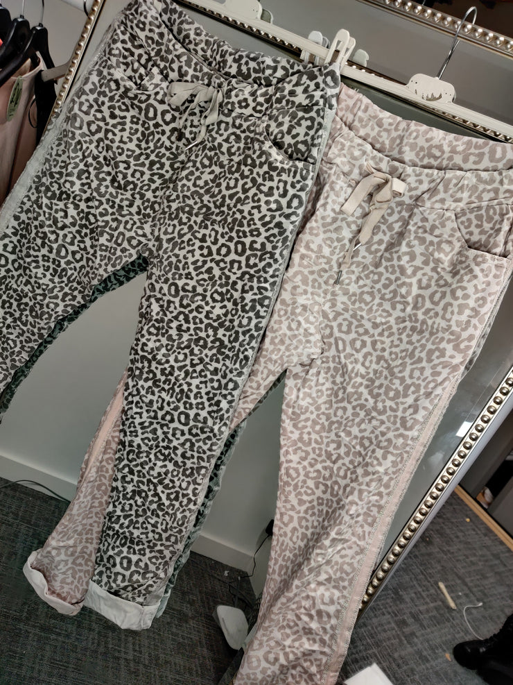 Leopard Stretch Joggers