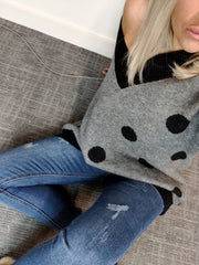 Charcoal Dotty Jumper
