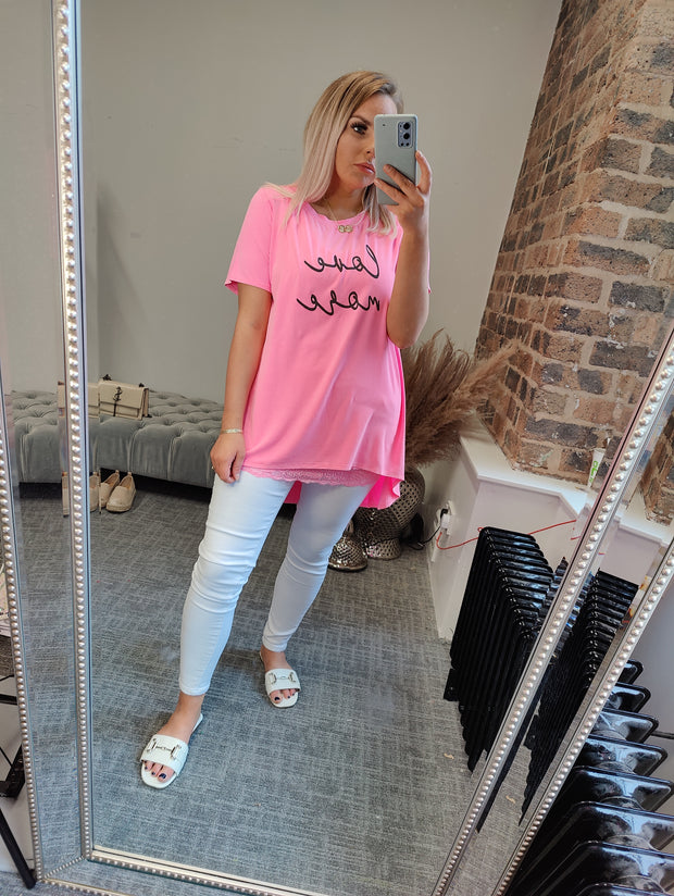 Love More Pink Tshirt