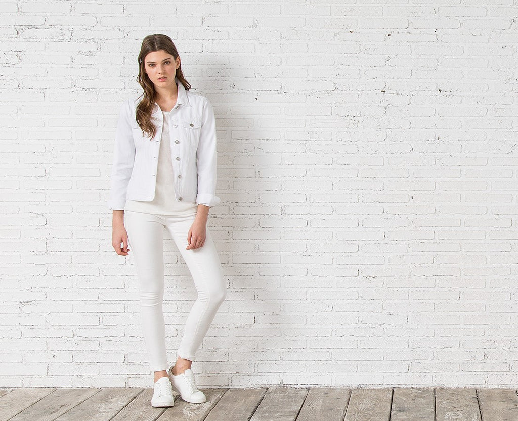 White Denim Jacket | Springfield Malta