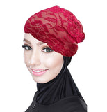 Ladies Lace Net Bonnet Hijab Cap