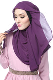 Ladies Double Layer Breathable Soft Chiffon Hijab Scarf Shawl Warp