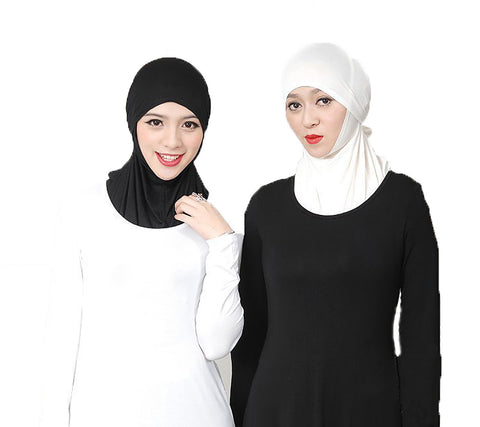 Muslim Cotton Hijab Amira Islamic Head Cover 1Set for Two