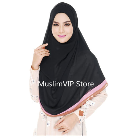 Newest Muslim pashmina women Scarf Fashionable  Islamic  chiffon  hijab in  Patchwork