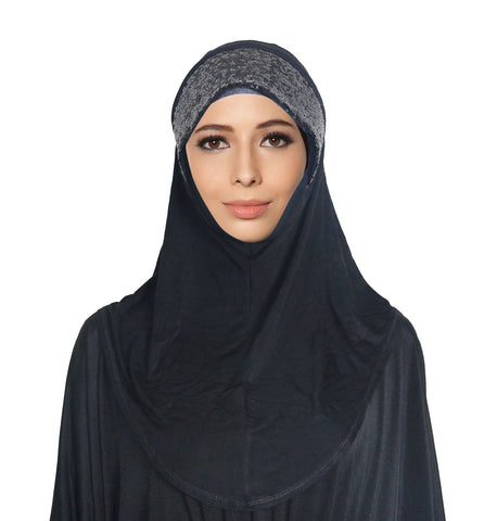 Sequins Plain Cotton Islamic Inner Hijab Underscarf Caps for Headwear