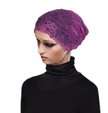 Cotton Bonnet Hijab Under Scarf Shawl with Lace Attached