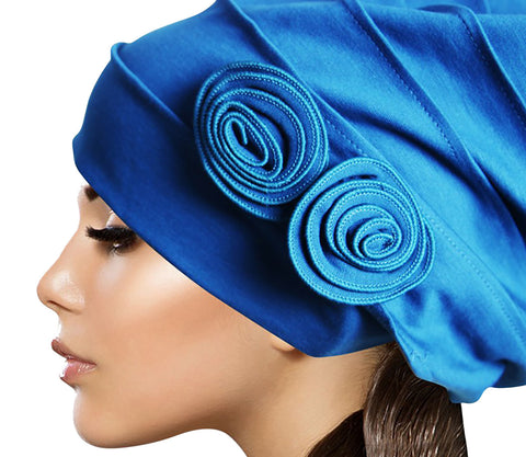 Islamic Flower Inner Hijab Caps Cotton Muslim Underscarf Hats for Women