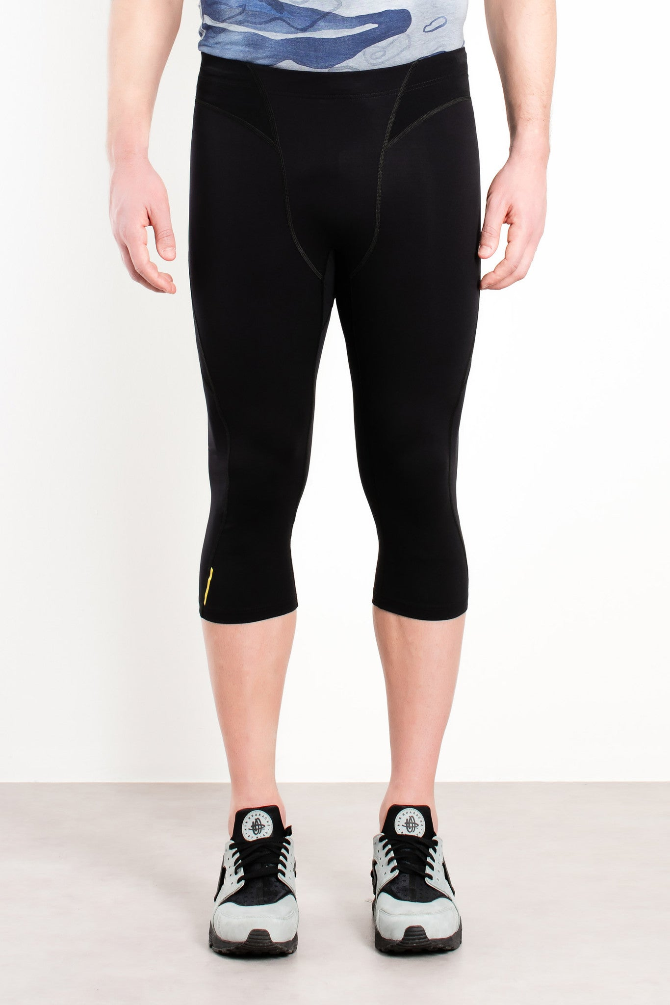 Vancouver Running Cropped Tights / Black