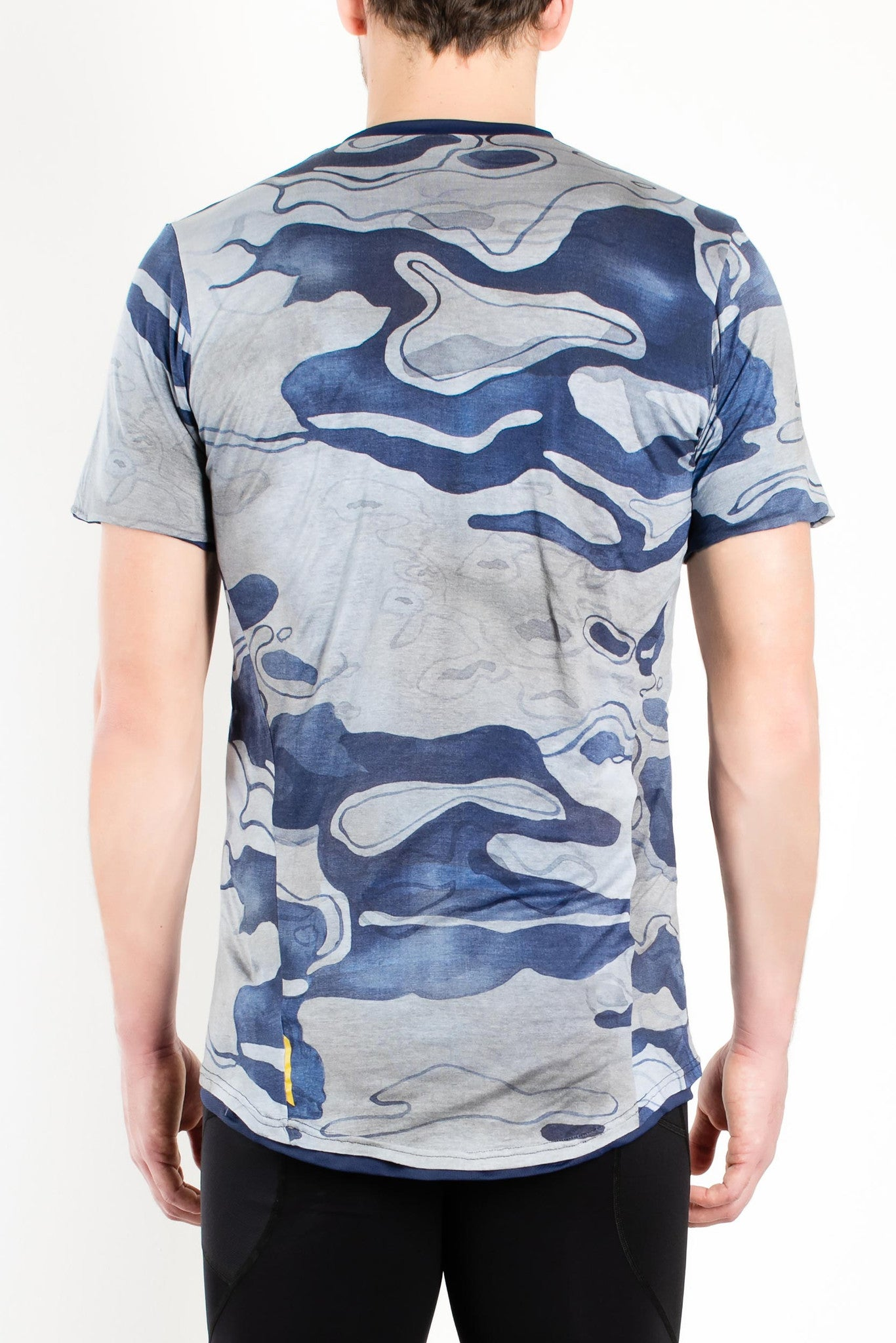 Conquista Crew-Neck Short Sleeve T-shirt / Blue Camo
