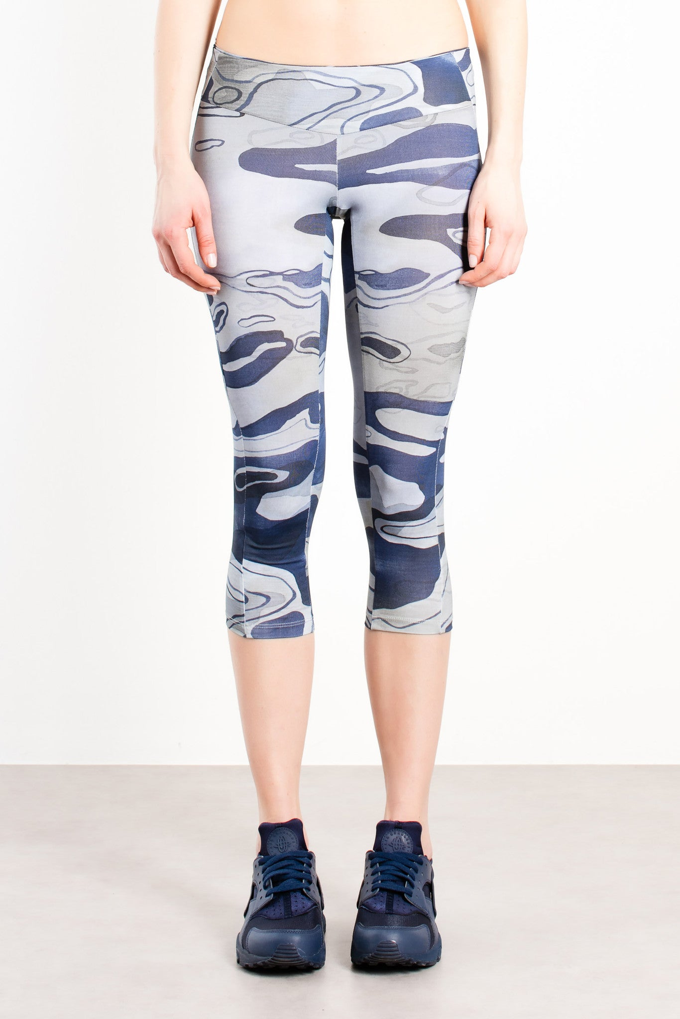 Fiume Cropped Sleggings / Blue Camo