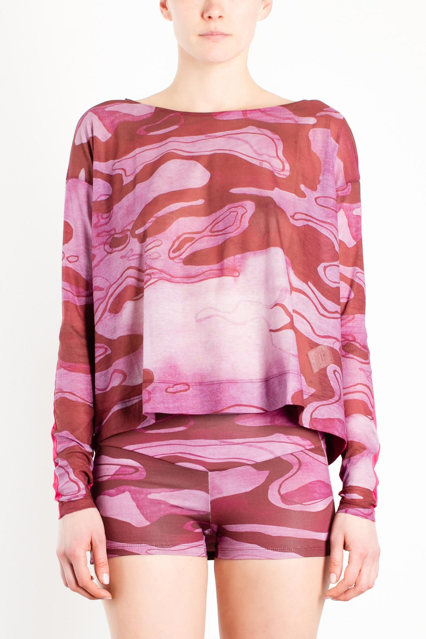 Sorgente Loose Long Sleeve Top / Purple Camo