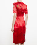 Babette Embroidered Silk Dress