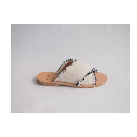 Eyelash Black Sandal