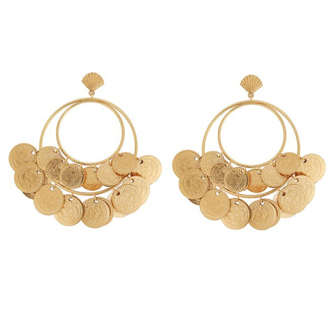 Venus Dangling Clam Earrings
