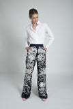 Erika Silk Embroidered Trousers