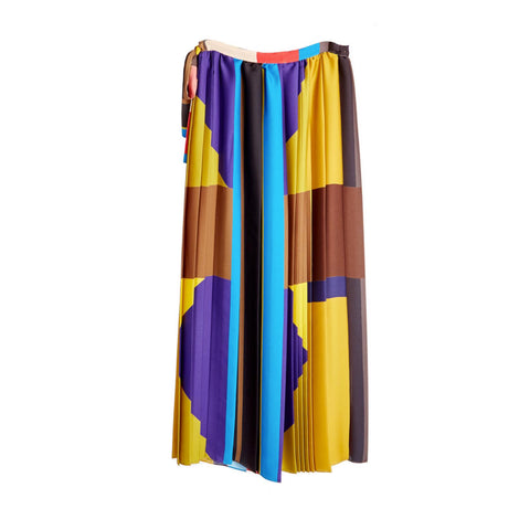 Multi Pleated Long Skirt