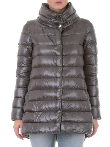 Padded Half Coat - Grey