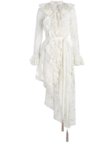 Bowerbird Ruffle Dress - Pearl