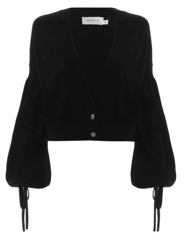 Folly Louche Cardigan, - Black