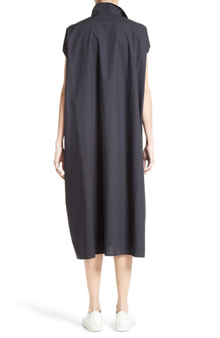 Drape Cotton Dress - French Blue