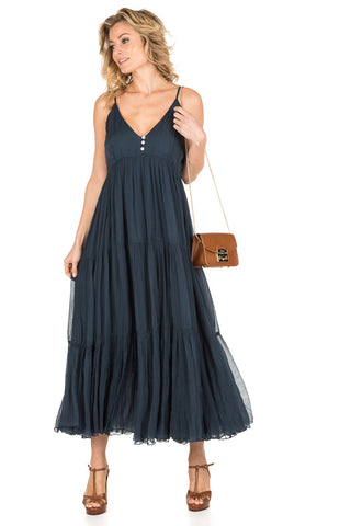 Celeste Long Dress - Navy