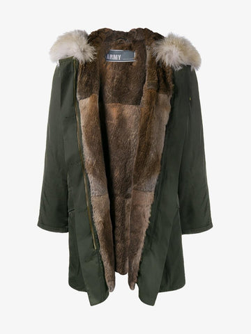 Fur Lined Parka - Army by Yves Salomon