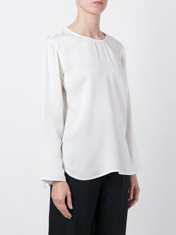 Boa Silk Top - White