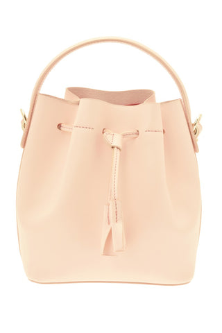Karin Leather Mini Bucket Bag - Pale Pink