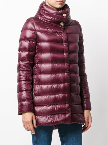 Padded Half Coat - Burgundy
