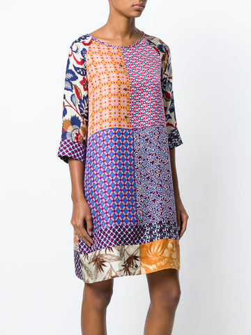 Multi Print Shift Dress