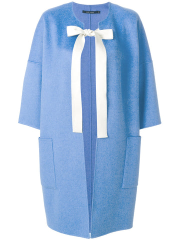 Cause Cashmere Wool Cocoon Coat - Sky Blue