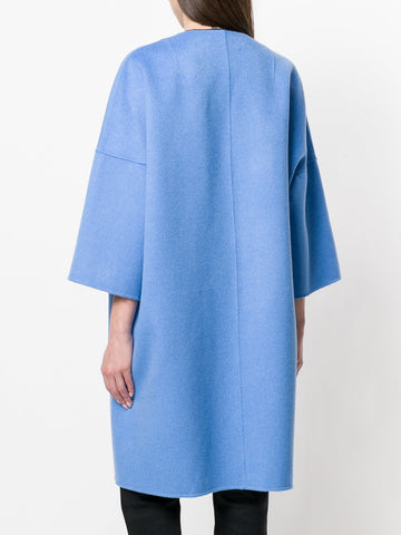 Cashmere Wool Cocoon Coat -Oatmeal
