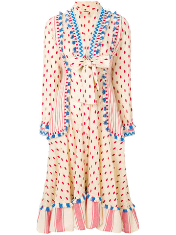 Padma Polka-Dot Cotton Dress