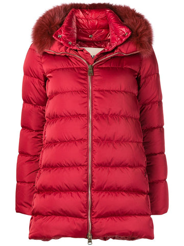 Padded Zip Coat - Red