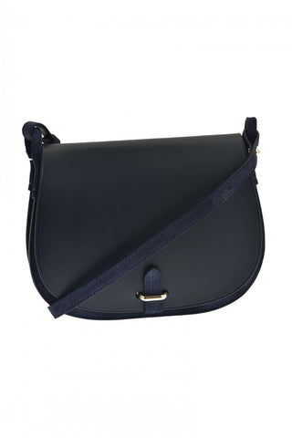 Copy of Emma bi-material Shoulder Bag - Navy